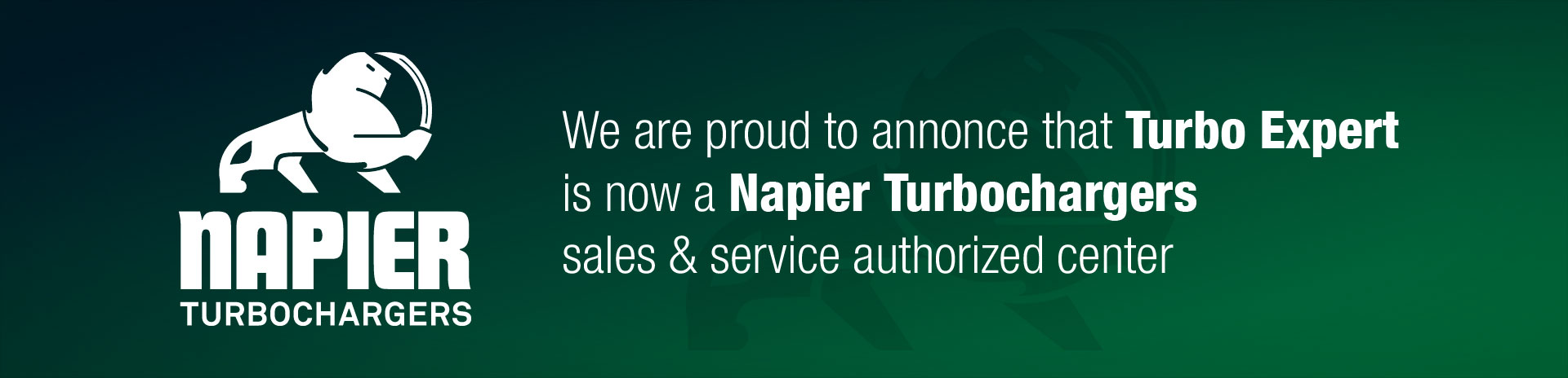 We are proud to annonce that Turbo Expert is now a Napier Turbochargers sales & service authorized center